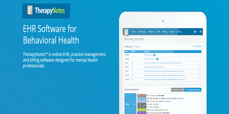 TherapyNotes Medical Billing Software